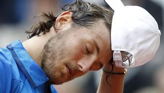 Lucas Pouille verliert als Nummer 22 der Welt gegen Aussenseiter Dusan Lajovic (ATP 80) das Auftakteinzel im Davis-Cup-Halbfinal in Lille