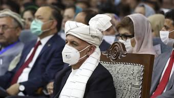 Aschraf Ghani, Präsident von Afghanistan, bei der Loja Dschirga in Kabul. Foto: Rahmat Gul/AP/dpa