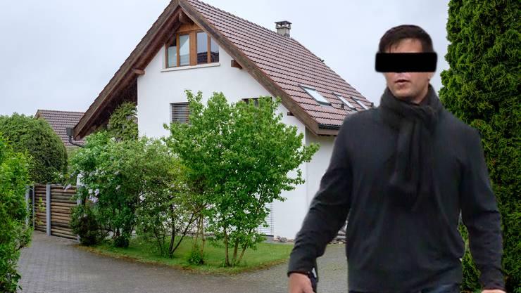 Thomas N. und das Wohnhaus in Rupperswil (Fotomontage)._1