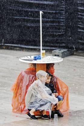 """Als die """"Fanta 4"""" beginnen sollten, gab es ein kurzes, aber heftiges Gewitter"""