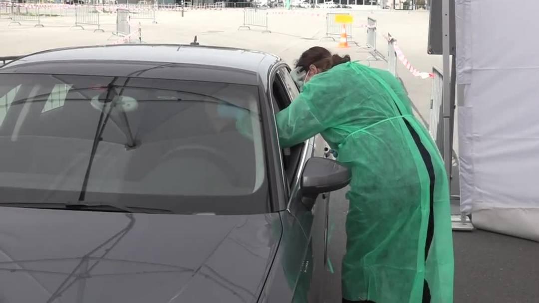 Luzern startet mit erstem Schweizer Drive-In für Coronavirus-Tests