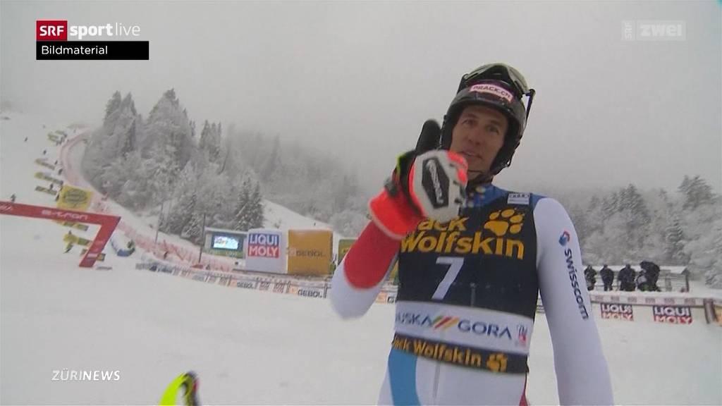 Slalom von Kranjska Gora: Ramon Zenhäusern auf Rang drei