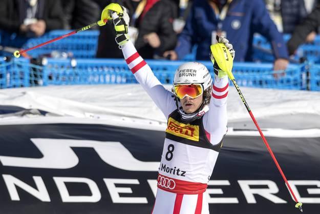 Manuel Feller gewinnt Silber.