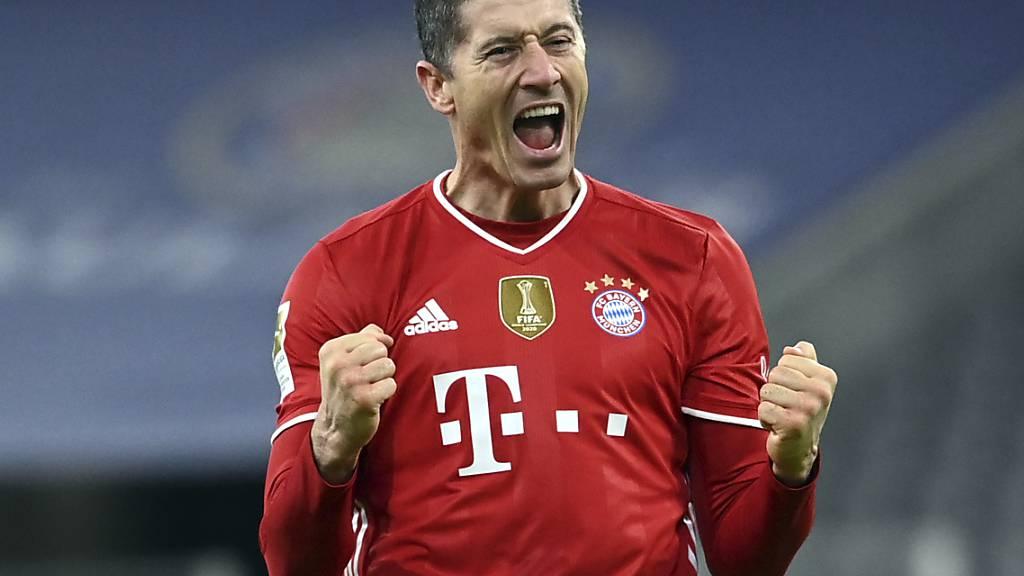 Robert Lewandowski traf am Samstag dreimal für Bayern München gegen seinen Ex-Klub Dortmund