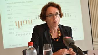 Ihr Budget dürfte bald ein wenig schrumpfen: Finanzdirektorin Eva Herzog (SP).