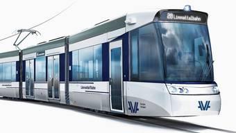 Die Kommission UBV spricht sich einstimmig für die Weiterführung der Limmattalbahn nach Baden aus. (So wird die Limmattalbahn aussehen).