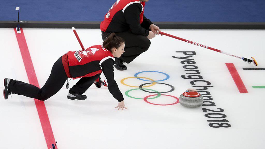 Jenny Perret und Martin Rios in ihrem ersten Olympia-Match