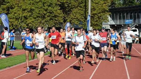 Der Start des Staffelmarathonsauf der Grendelmatte.