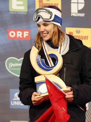 Mirjam Jäger holte Bronze für die Schweiz. Die 32-jährige wohnt in Kalifornien und modelt.