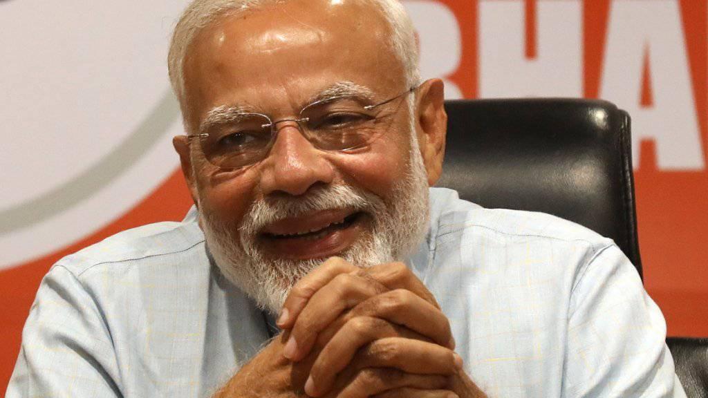 Premierminister Narendra Modi und seine Partei sind ist zuversichtlich, die indische Parlamentswahl gewonnen zu haben. (Archiv)