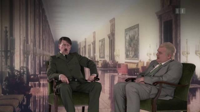 In der Sendung Giacobbo/Müller nimmt Adolf Hitler Stellung zu Christoph Blochers Nazi-Vergleich