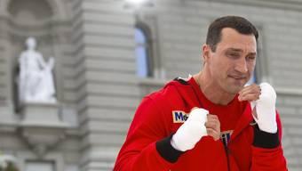 Klitschko-Training auf dem Bundesplatz