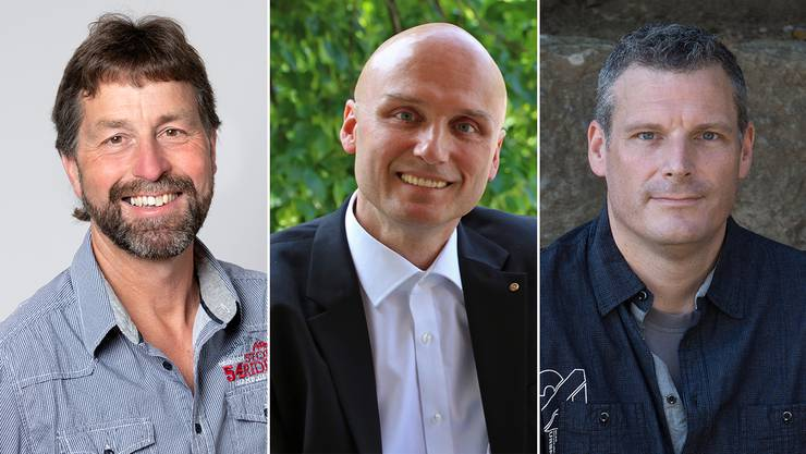 Wollen den Sprung in den Gemeinderat schaffen: Ueli Siegrist, Bernhard Schaub und Andreas Wölfli (von links).