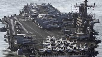 Die USA und Südkorea wollen trotz der jüngsten diplomatischen Annäherung mit Nordkorea ihre gemeinsamen Militärübungen in der Region der koreanischen Halbinsel wieder aufnehmen. (Symbolbild)