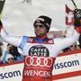 Beat Feuz freut sich in Wengen auch über den 2. Platz