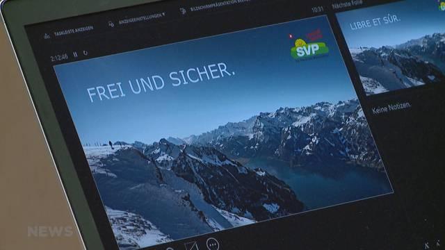 """""""Frei und sicher"""": SVP stellt neues Parteiprogramm vor"""