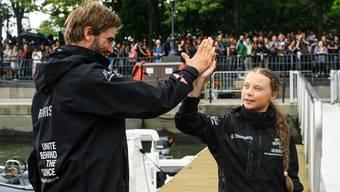 Im August 2019 segelte Boris Herrmann mit der Klimaaktivistin Greta Thunberg über den Atlantik, von Plymouth nach New York.