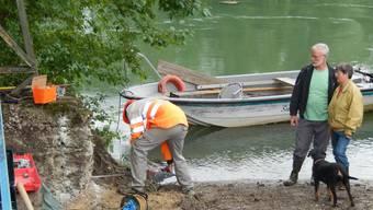 Bauarbeiten für die neue Inseli-Fähre haben begonnen.