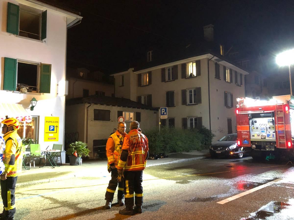 Der Brand war über dem Restaurant in einer Wohnung ausgebrochen. (© Kapo SG)