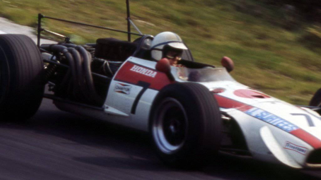 John Surtees 1968 in einem Honda beim GP Grossbritannien: Am Freitagnachmittag starb der älteste noch lebende Formel-1-Weltmeister