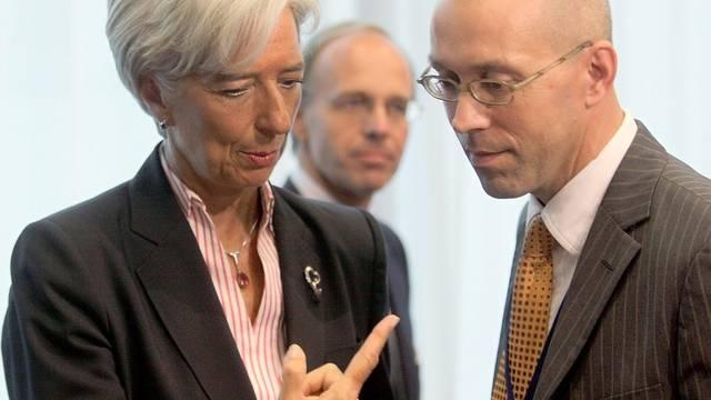 Christine Lagarde und der deutsche Staatssekretär Jörg Asmussen (Archiv)