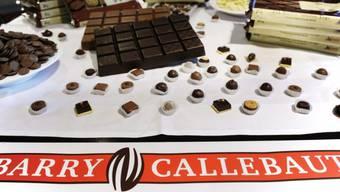 Produkte des Schokoladeproduzenten Barry Callebaut in einer Auslage