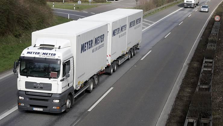 In einigen EU-Ländern derzeit getestet: Der Super-Lastwagen.