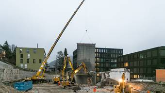 Baustelle Sekundarstufezentrum Burghalde