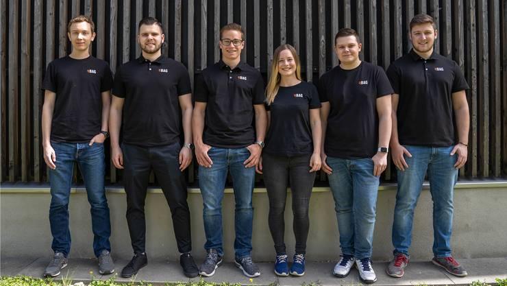 Yannik Inniger, Carlo Toccariello, Simon Haller, Cynthia Haller, Yves Wehrli und Daniel Jakober (v.l.) haben das Unternehmen gemeinsam gegründet.