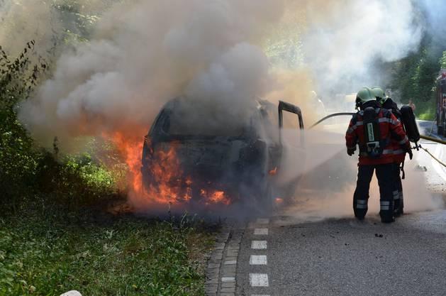Beim Autobrand wurde niemand verletzt.