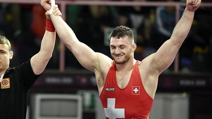 Grosser Erfolg für den Schweizer Ringer Samuel Scherrer, der an der EM in Rom Silber gewann
