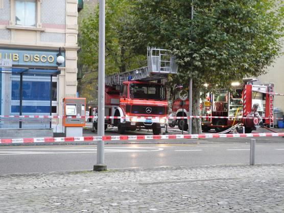 Die Feuerwehr Zuchwil vor Ort.