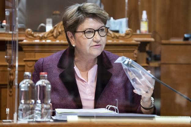 Soll den Lead an sich reissen, wenn es nach Bäumle geht: Verteidigungsministerin Viola Amherd.