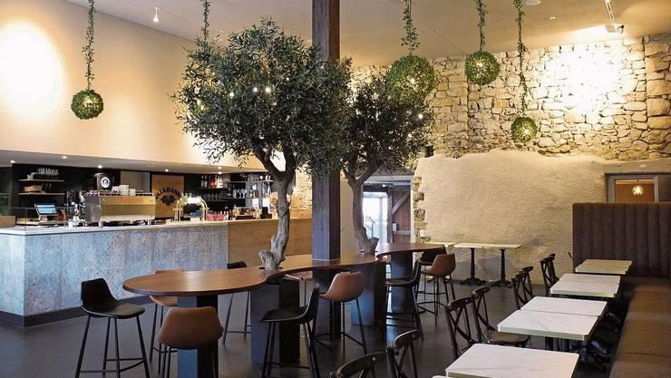 Die Olivenbäume im «Fiori» erinnern an Italien.