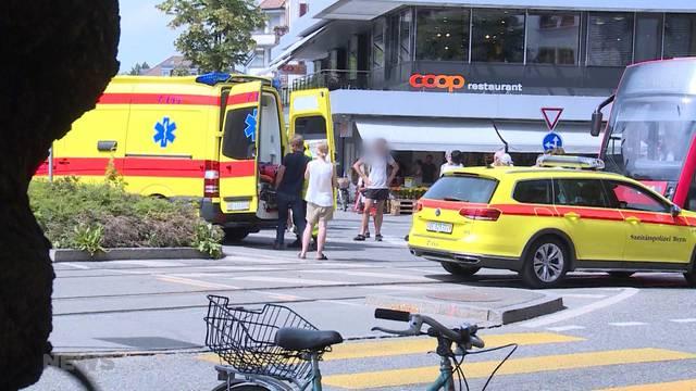 Breitenrainplatz: Kollision zwischen Tram und Velo