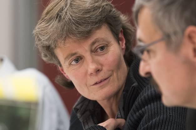 Die neu gewählte Einwohnerratspräsidentin Brigitte Vogel, ER Lenzburg, 18. Januar 2018.