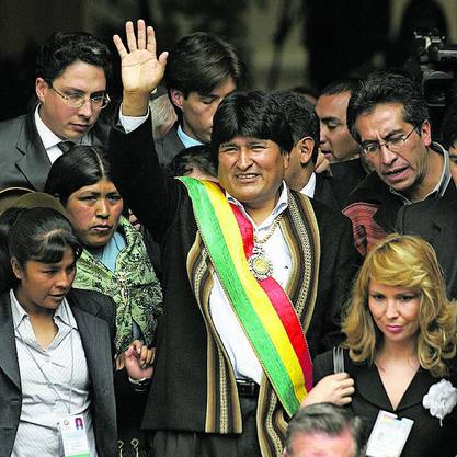Im Januar 2006 wird Evo Morales zum ersten Mal als Präsident Boliviens vereidigt.