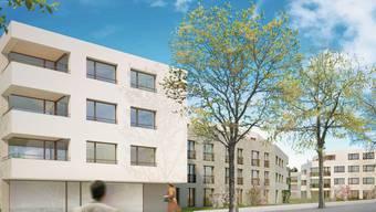Die Überbauung bietet über 100 Bewohnern Platz. Visualisierung/ Zvg