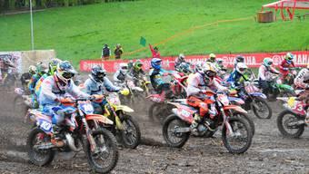 Das 61. Motocross Wohlen fordert den Fahrern alles ab