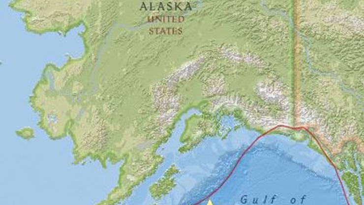 Golf Von Alaska Karte.Tsunami Warnung Nach Starkem Erdbeben Vor Der Kuste Von