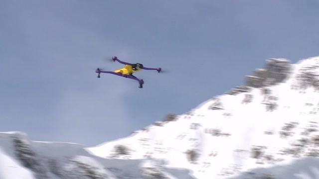 Ski-Pisten-Drohne