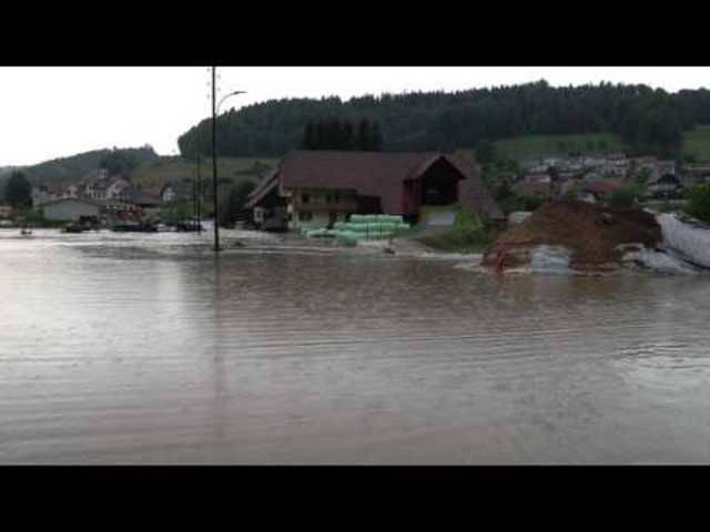 Überschwemmungen in Bottenwil