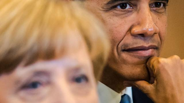 Merkel und Obama fordern Russland zum Handeln auf (Archiv)
