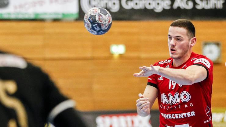 Der Suhrer Raphael Rohr, hier noch im Trikot des HSC Suhr Aarau, spielt seit der Winterpause für den STV Baden.
