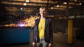 SVP-Nationalrätin Diana Gutjahr posiert in ihrem Metallbauunternehmen in Romanshorn TG  (Archvibild Januar 2020)