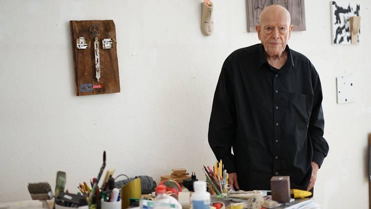 Urs Jaeggi (85) lebt und arbeitet seit vielen Jahren in Berlin-Charlottenburg.