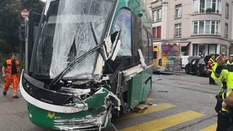 Tramkollision in Basel