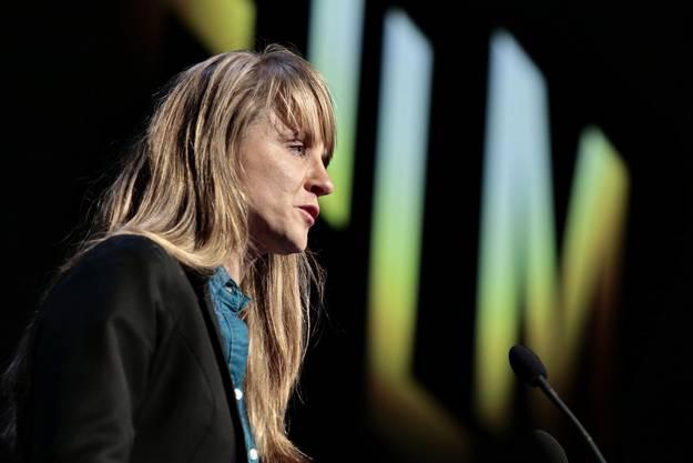Seraina Rohrer bei der Ansprache zur Vor-Eröffnung