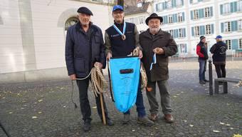 Obmann Urs Schwager (Mitte) mit seinen beiden Vorgängern Bütz Hächler (links) und Felix Kieser.