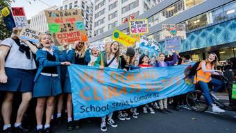 Klimastreik in Wellington.